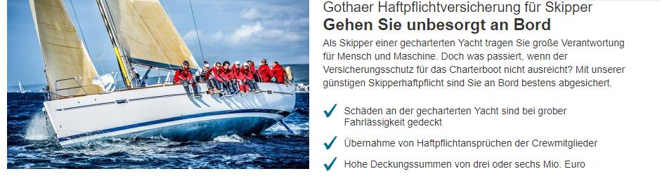 Gothaer Privathaftpflichtversicherung Skipper