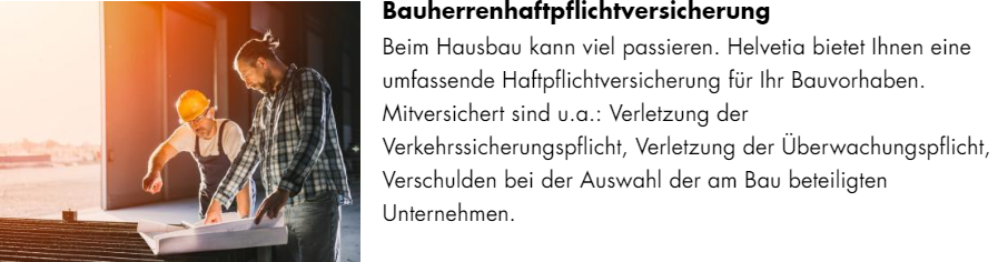 Helvetia Bauherrenhaftpflich