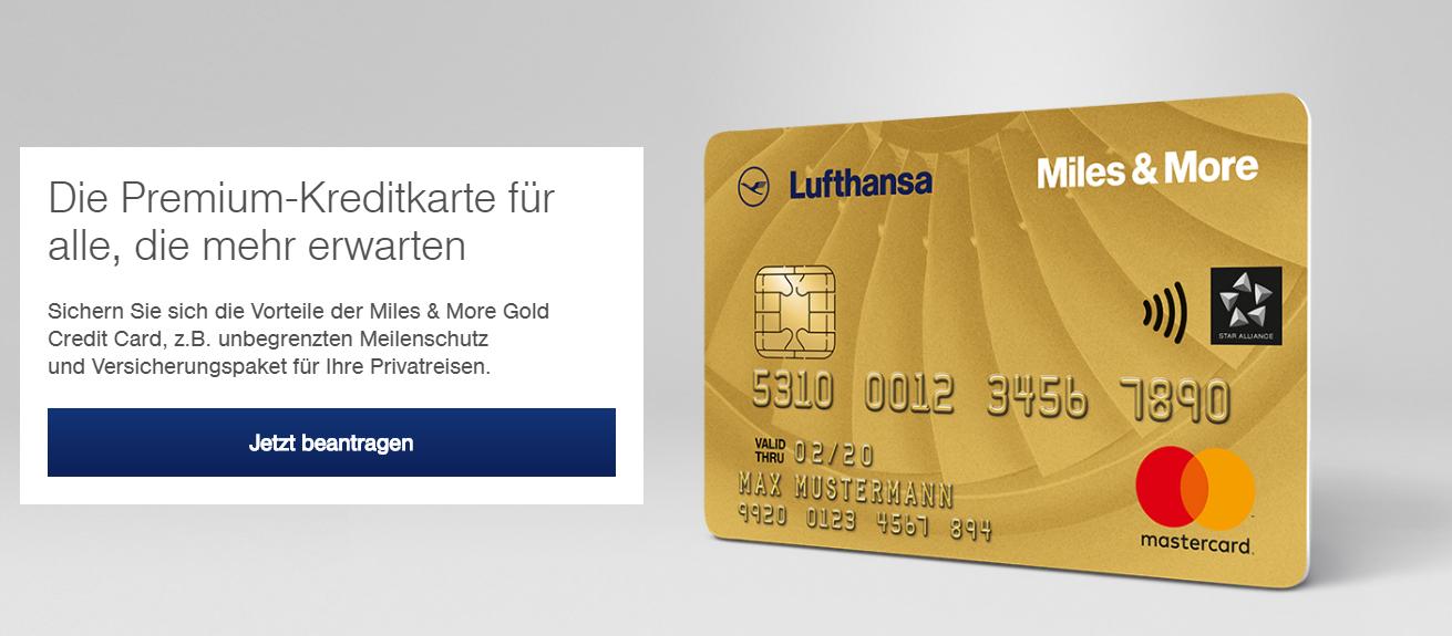 Die Miles & More Premium Kreditkarte