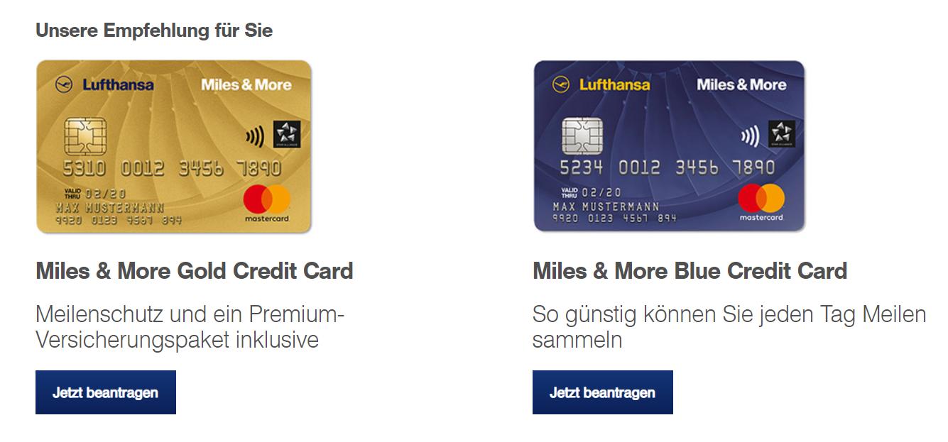 Die beste Kreditkarte ist aus unserer Sicht derzeit die Miles and More Kreditkarte.